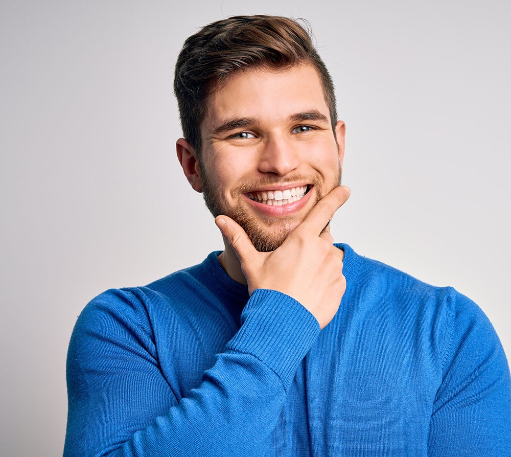 man with big smile
