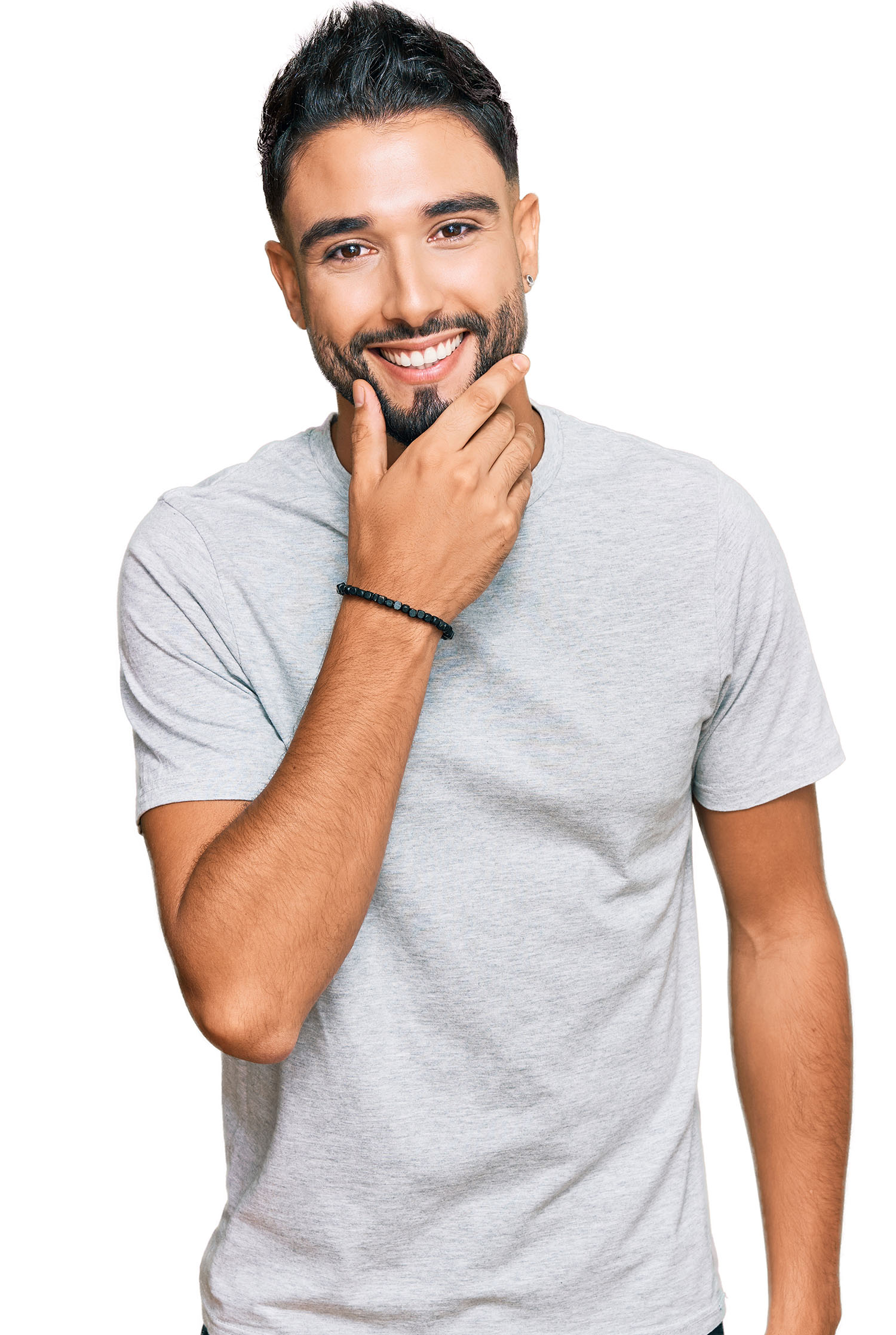 young man grinning